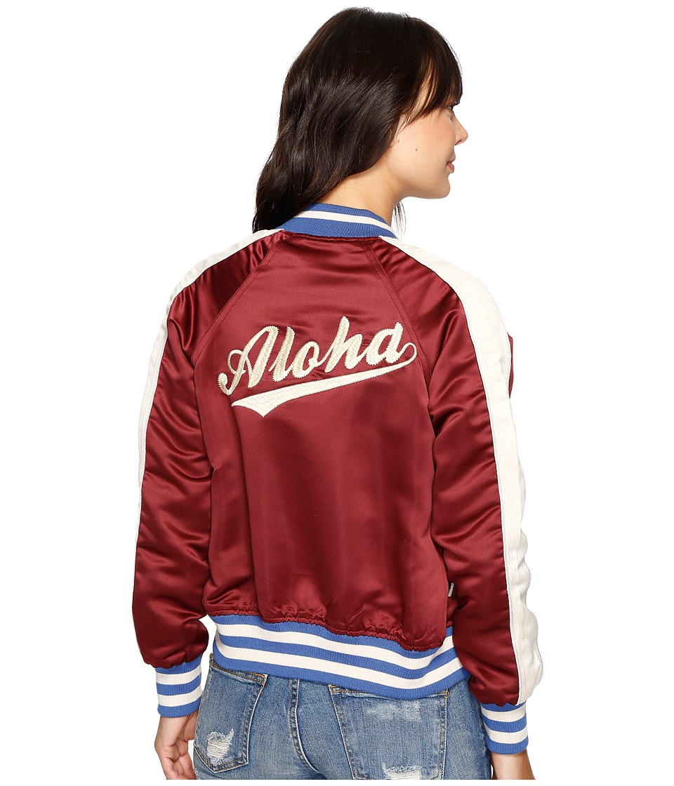 Billabong - Team Aloha Bomber Jacket (Mystic Maroon) Women's Coat