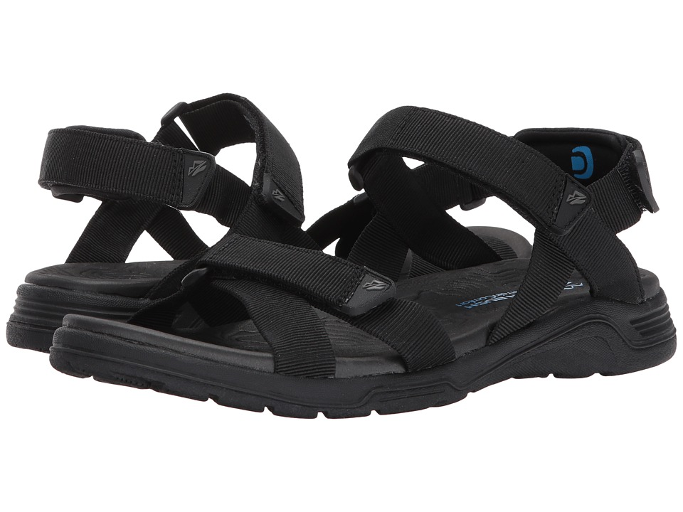 Nunn Bush - Mirage Two Strap Mesh Sandal (Black) Men's Sandals