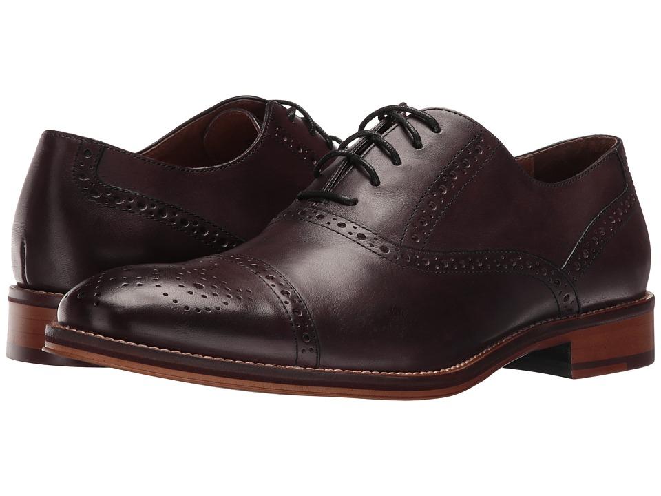Johnston & Murphy - Conard Cap Toe (Burgundy Italian Calfskin) Men's Shoes