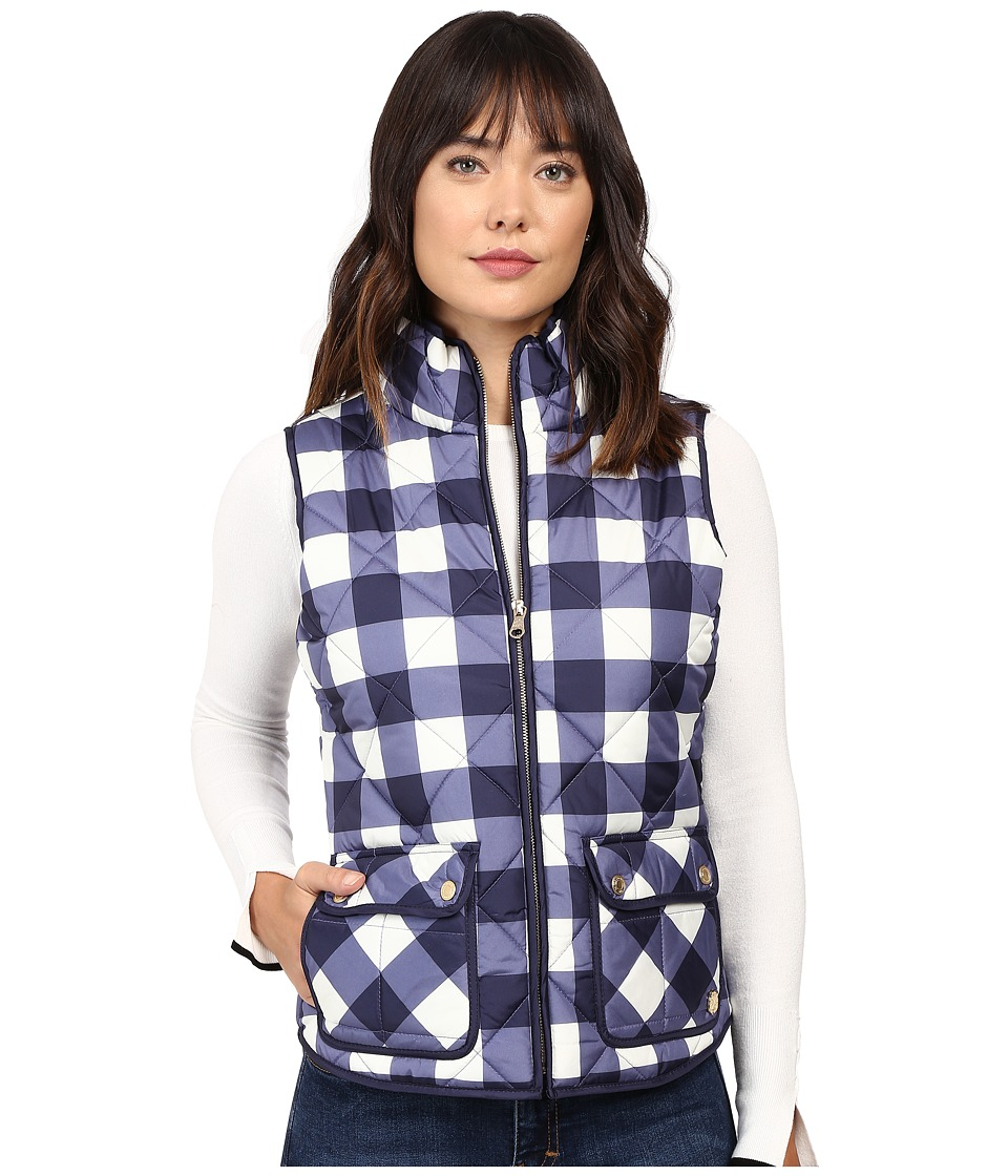 U.S. POLO ASSN. - Buffalo Plaid Vest (Evening Blue) Women's Vest