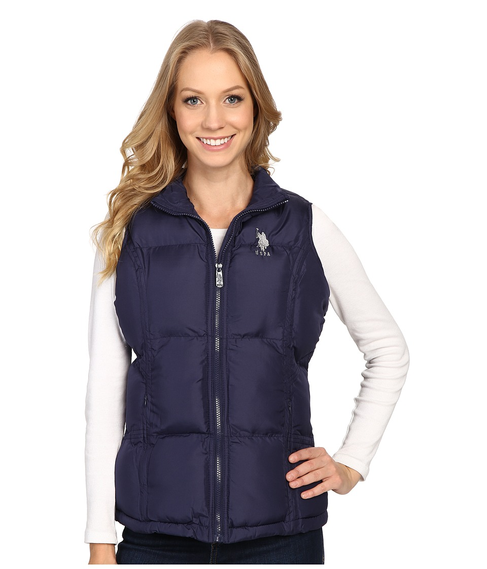 U.S. POLO ASSN. - Classic Puffer Vest (Evening Blue) Women's Vest