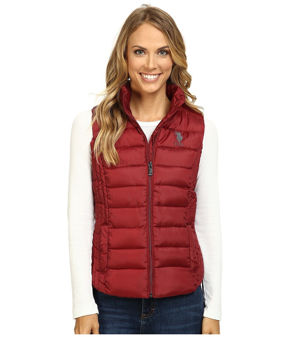 U.S. POLO ASSN. - Quilted Vest (Rumba Red) Women's Vest