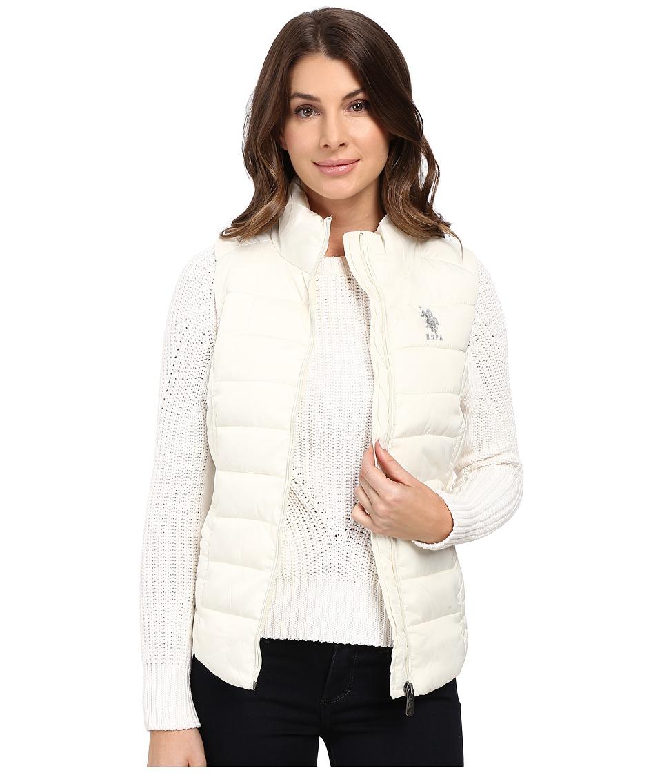 U.S. POLO ASSN. - Quilted Vest (Oat) Women's Vest
