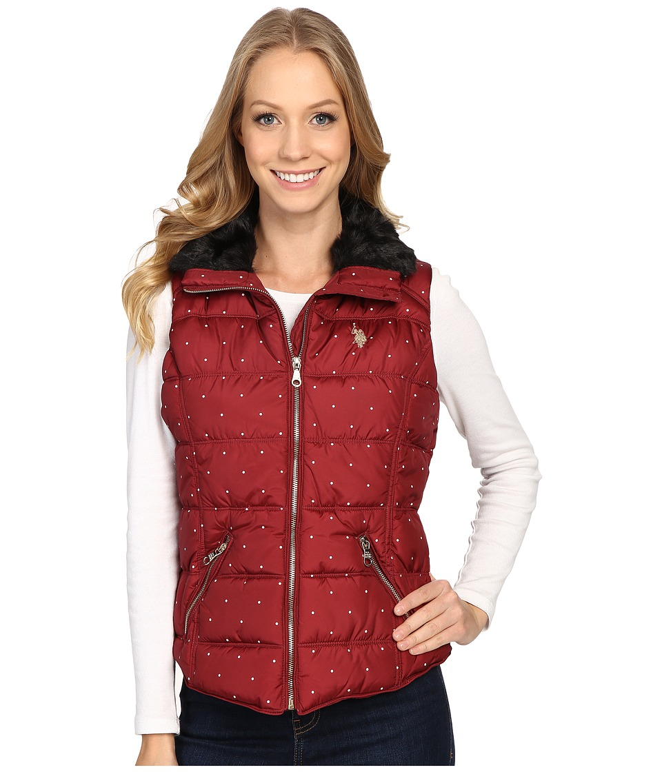 U.S. POLO ASSN. - Quilted Dot Vest (Rumba Red) Women's Vest