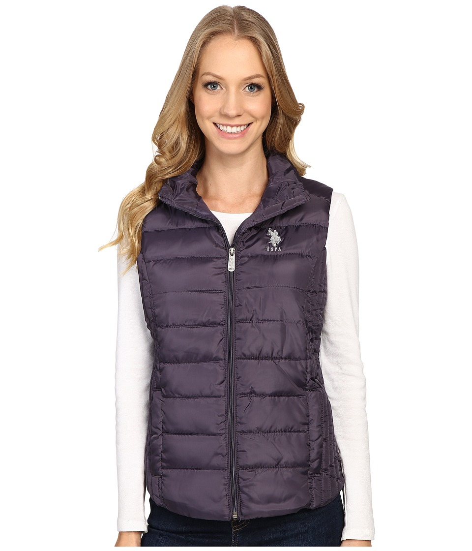 U.S. POLO ASSN. - Quilted Vest (Iridescent Grape) Women's Vest