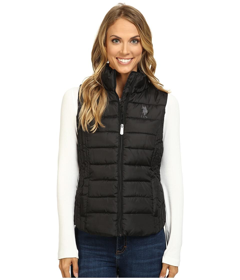 U.S. POLO ASSN. - Quilted Vest (Black) Women's Vest
