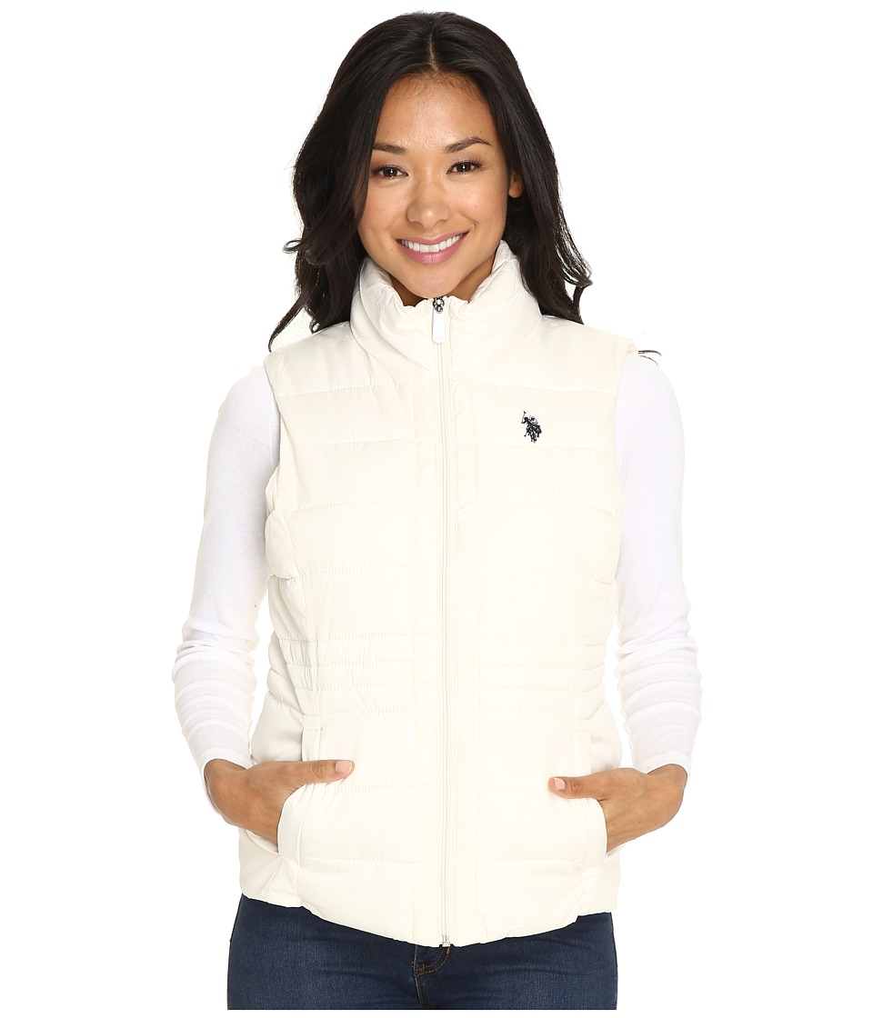 U.S. POLO ASSN. - Quilted Vest with Sherpa Lining (Oat) Women's Vest
