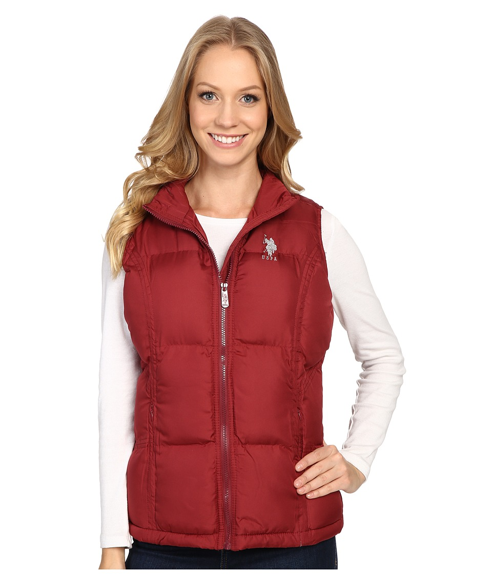 U.S. POLO ASSN. - Classic Puffer Vest (Rumba Red) Women's Vest