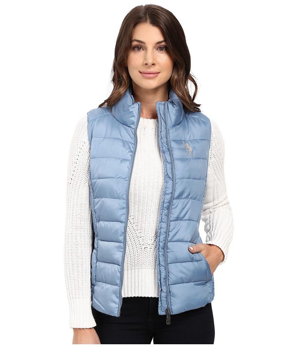 U.S. POLO ASSN. - Quilted Vest (Glacier Blue) Women's Vest