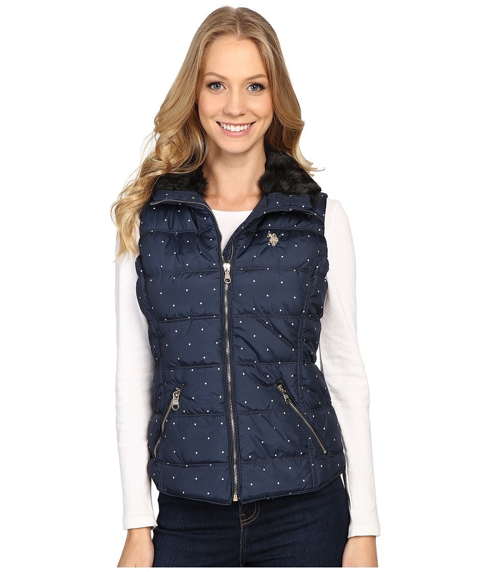 U.S. POLO ASSN. - Quilted Dot Vest (Evening Blue) Women's Vest