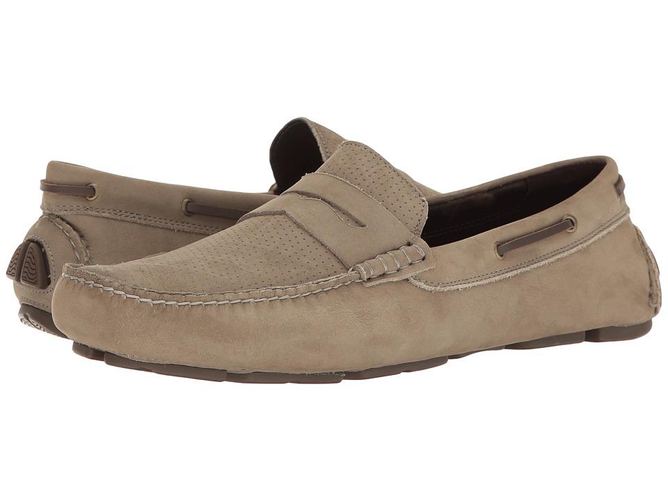 Johnston & Murphy - Gibson Perfed Penny Driver (Gray Nubuck) Men's Slip on Shoes