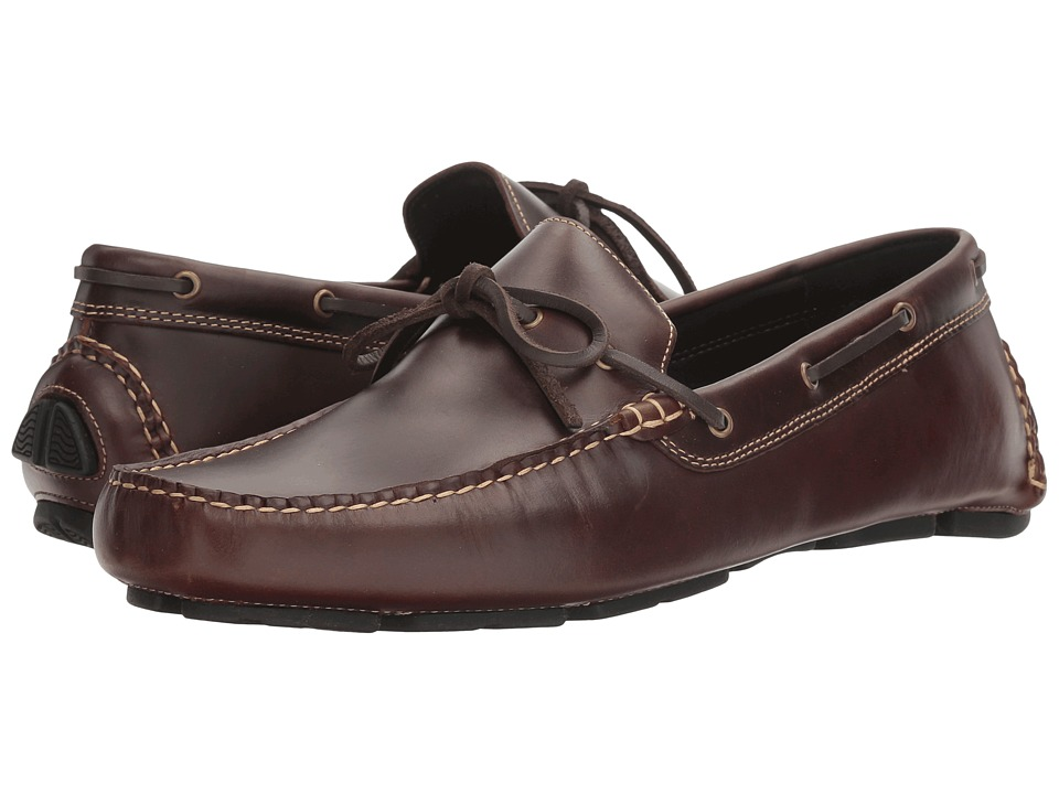 Johnston & Murphy - Gibson One Eye Tie Driver (Brown Pull-Up) Men's Slip on Shoes