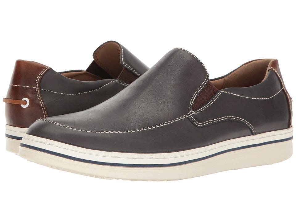 Johnston & Murphy - Bowling Slip-On (Navy Full Grain) Men's Slip on Shoes