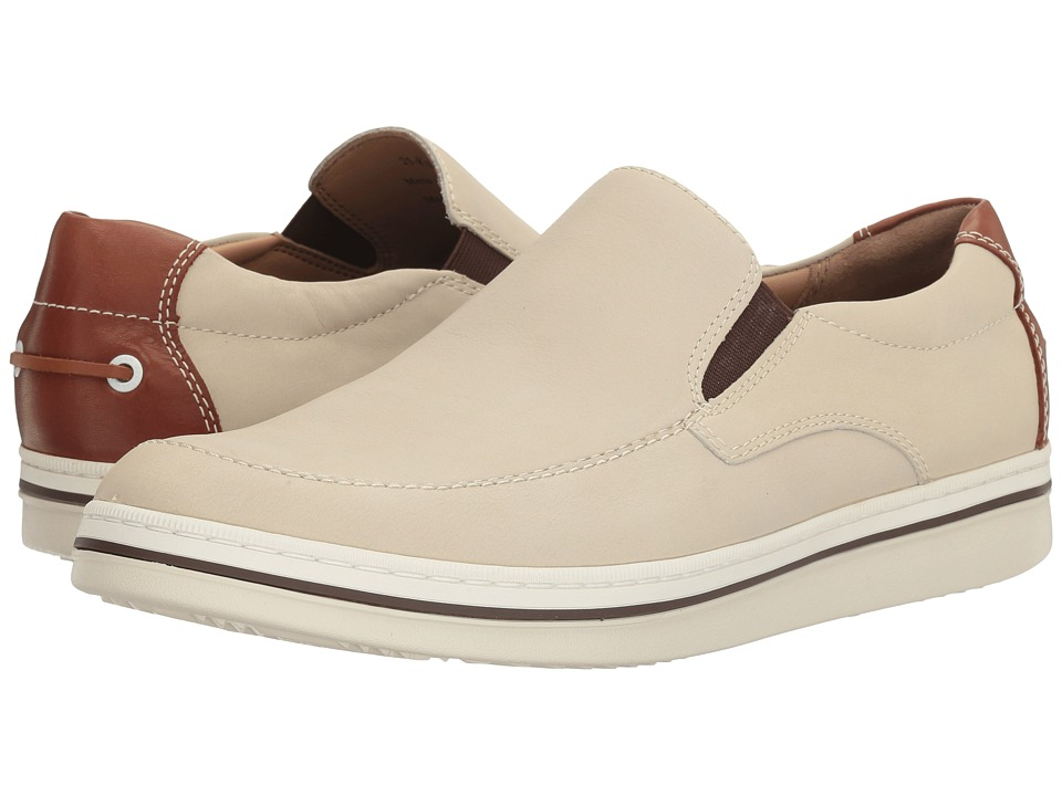 Johnston & Murphy - Bowling Slip-On (Bone Full Grain) Men's Slip on Shoes