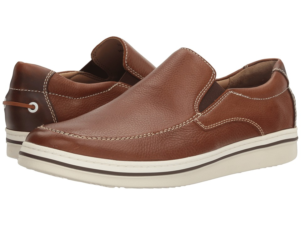 Johnston & Murphy - Bowling Slip-On (Tan Full Grain) Men's Slip on Shoes