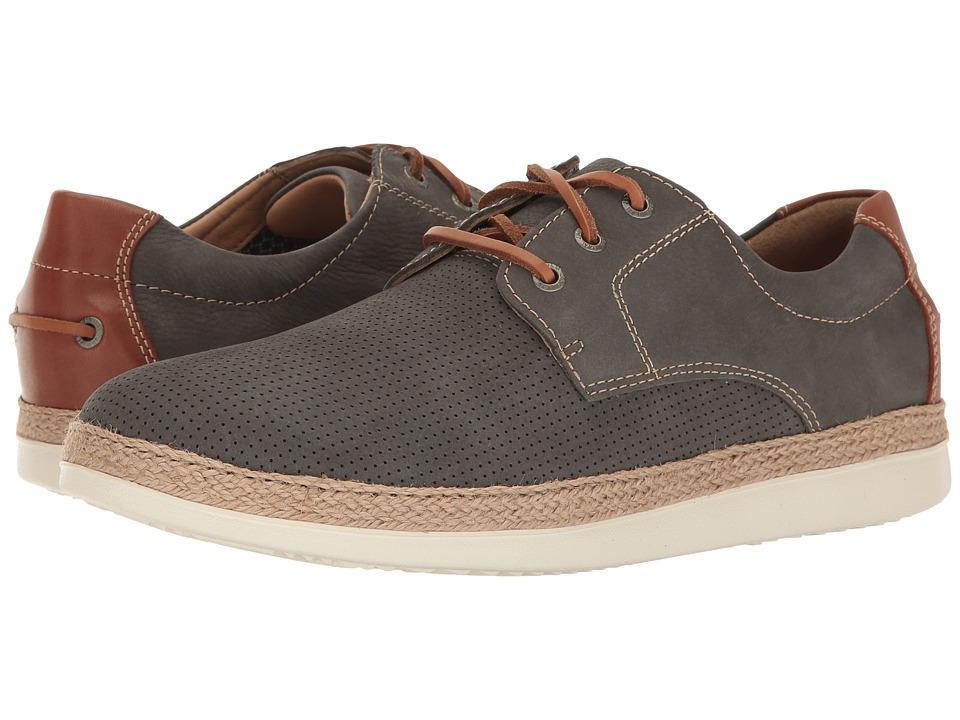 Johnston & Murphy - Bowling Perfed Plain Toe (Denim Soft Tumbled Nubuck) Men's Slip on Shoes