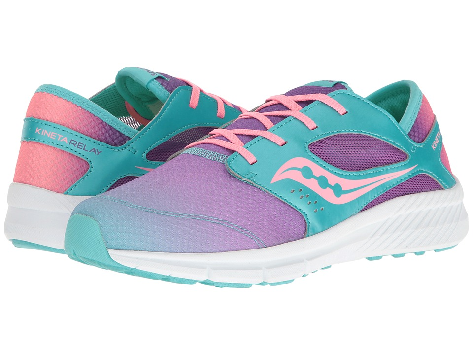 Saucony Kids - Kineta Relay (Big Kid) (Turquoise/Multi) Girls Shoes