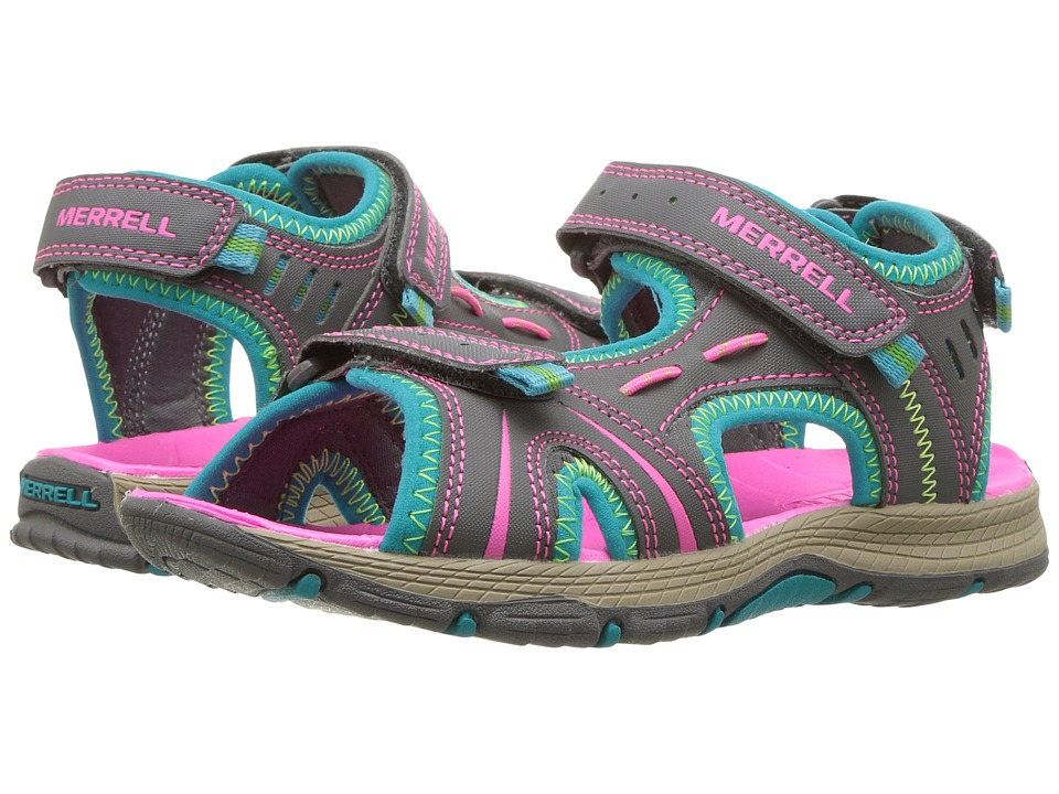 Merrell Kids Panther (Toddler/Little Kid) (Grey/Turquoise) Girls Shoes