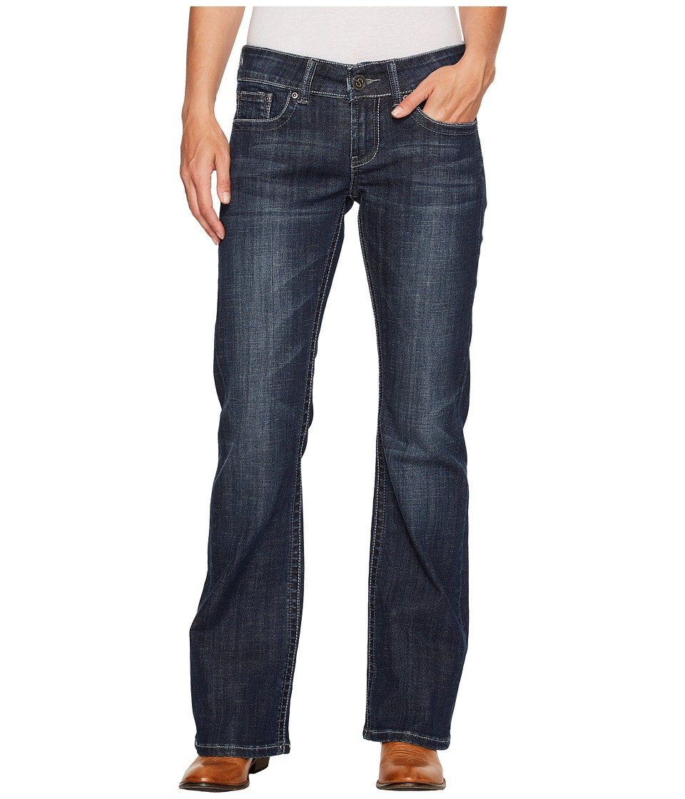Stetson - Horizontal Aztec Back Pocket (Blue) Women's Jeans