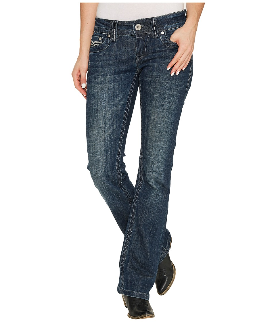 Stetson - Scritch Stitch S Back Pocket (Blue) Women's Jeans
