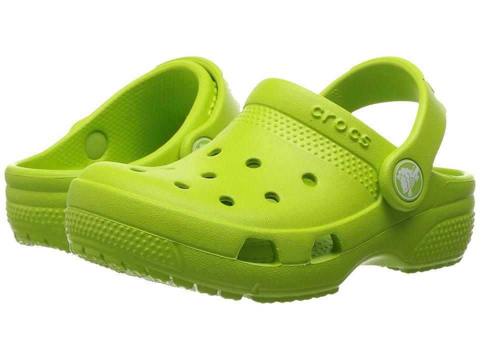 Crocs Kids - Coast Clog (Toddler/Little Kid) (Volt Green) Kids Shoes