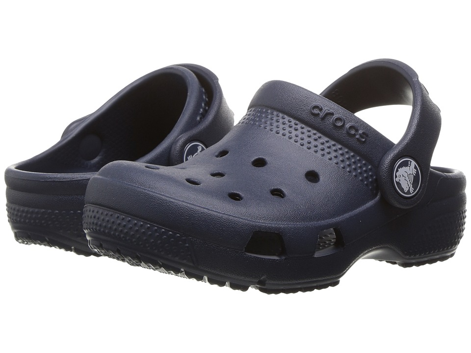 Crocs Kids - Coast Clog (Toddler/Little Kid) (Navy) Kids Shoes