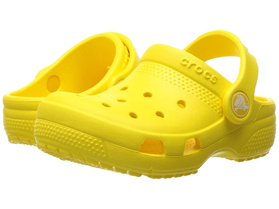 Crocs Kids - Coast Clog (Toddler/Little Kid) (Lemon) Kids Shoes