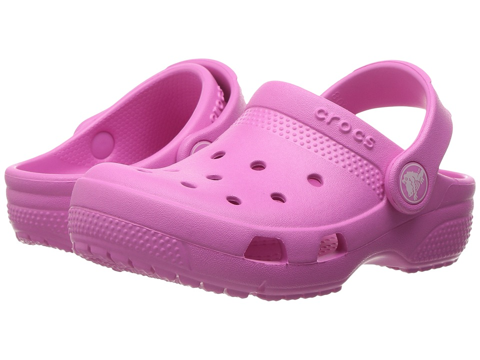 Crocs Kids - Coast Clog (Toddler/Little Kid) (Party Pink) Kids Shoes