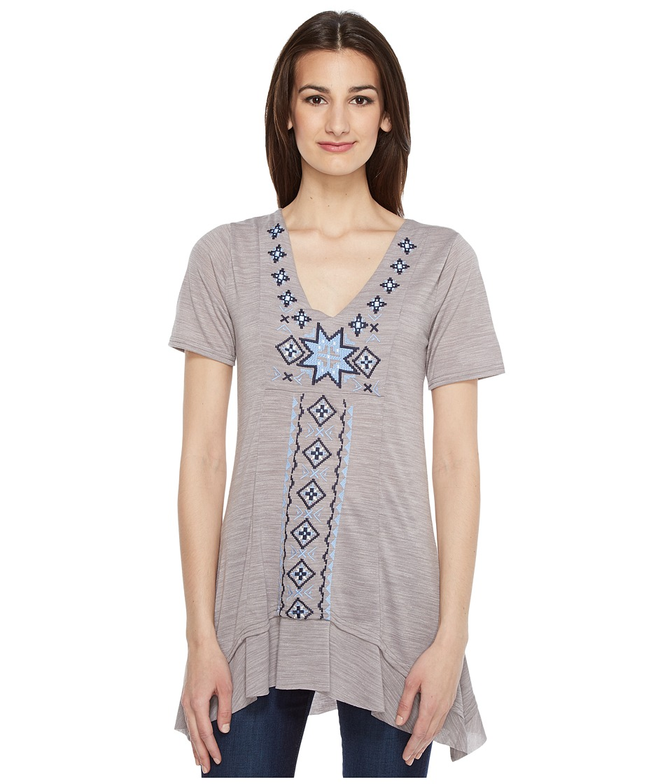 Roper 0945 Short Sleeve Jersey Tunic (Grey) Women