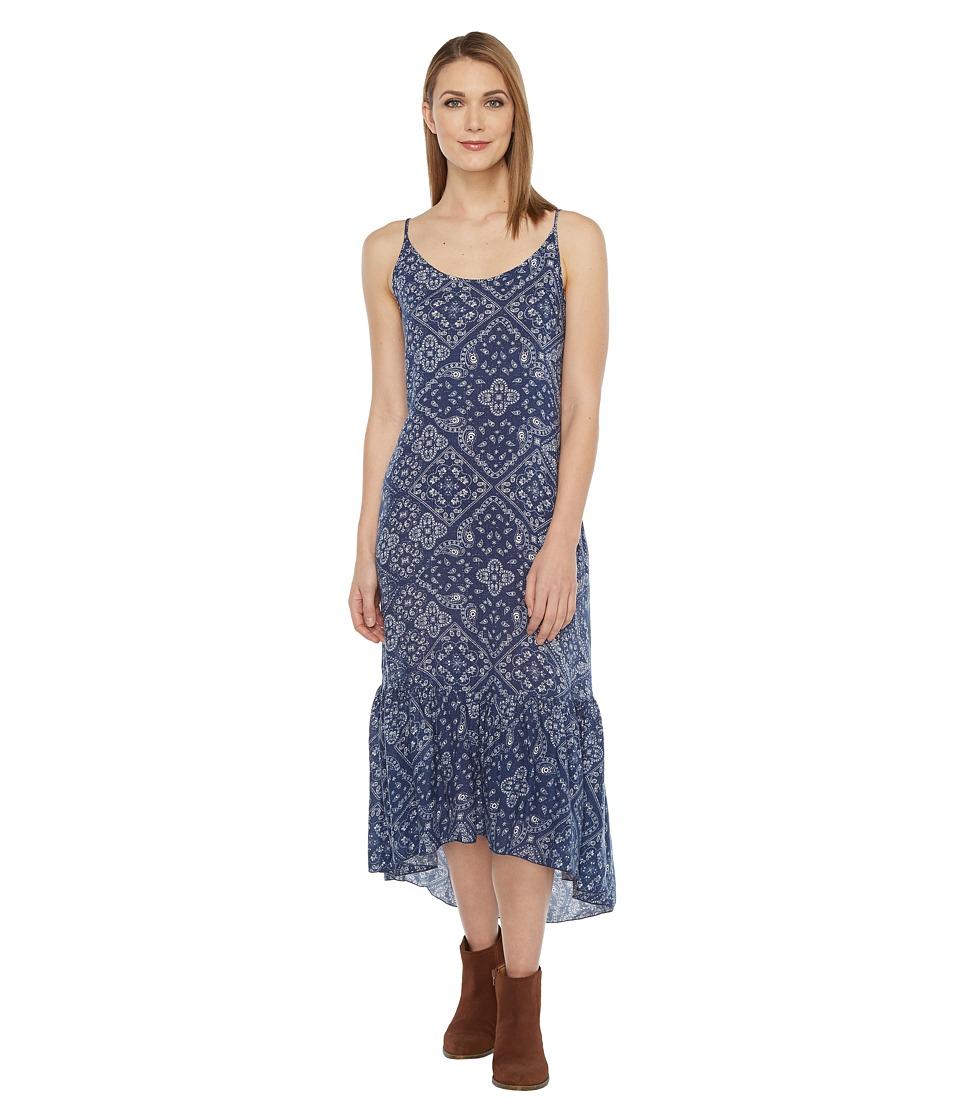 Roper - 0879 Navy Bandana Print Dress (Blue) Women's Dress