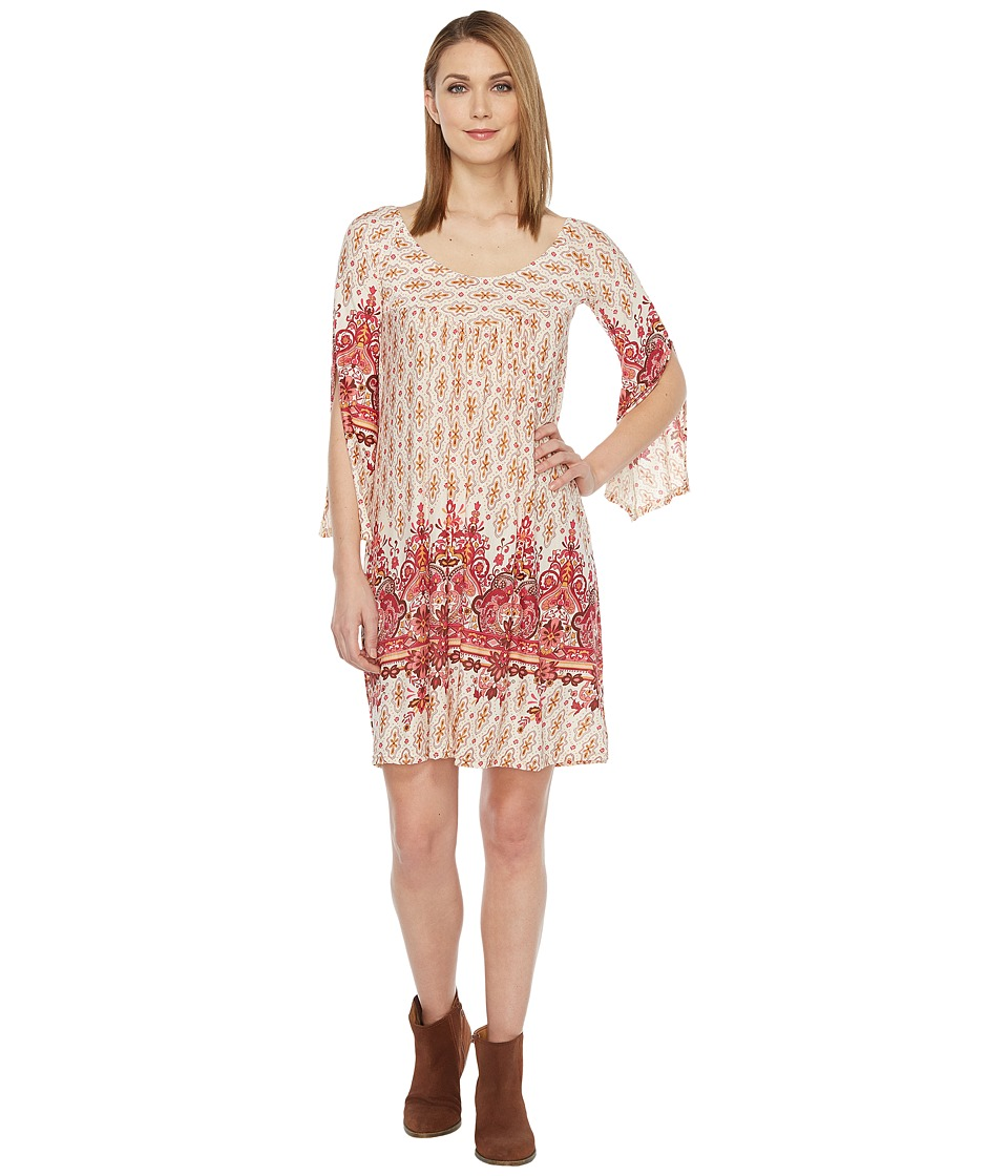 Roper - 0875 Border Print Tunic/Dress (Red) Women's Dress