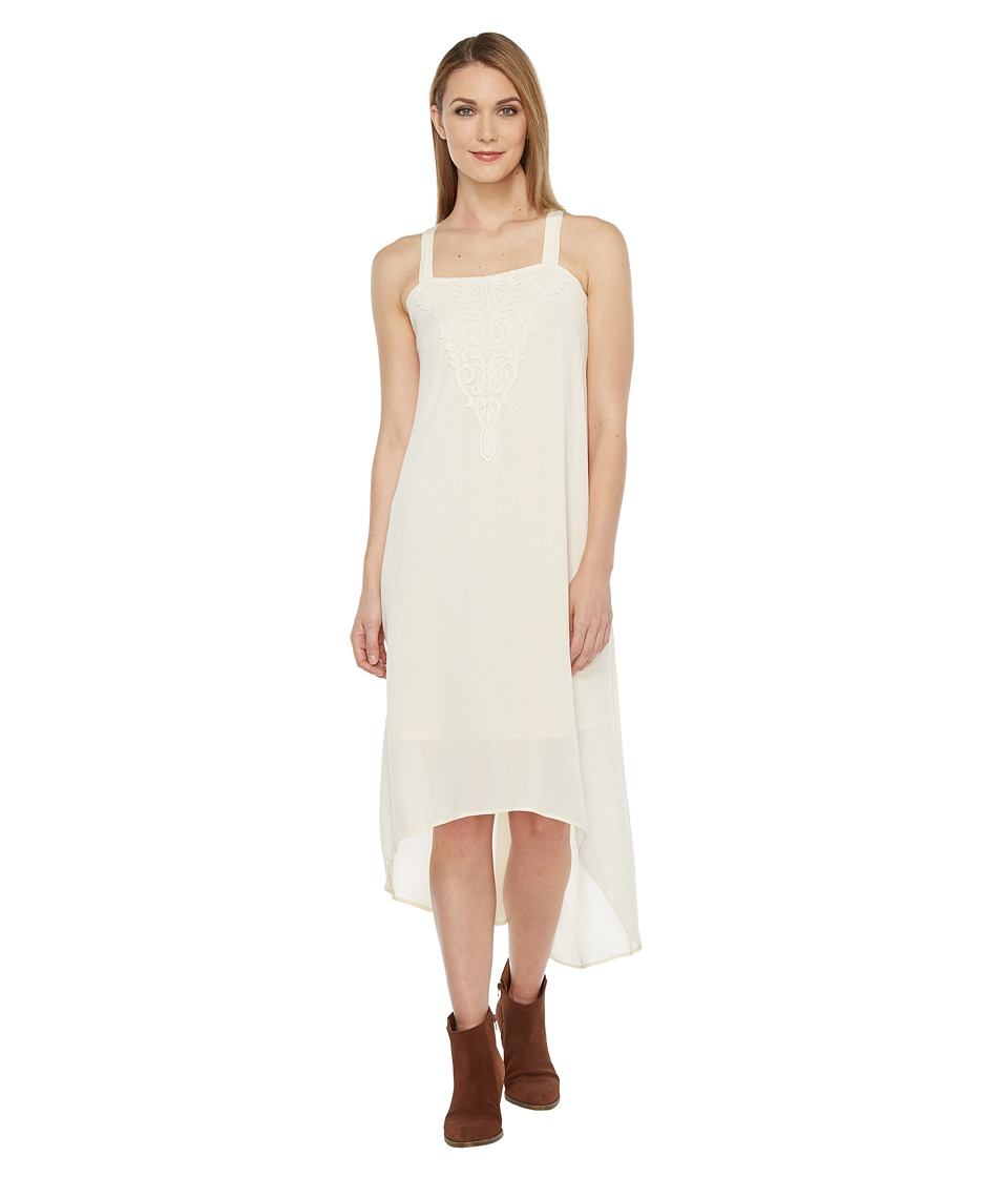 Roper - 0877 Cotton Poly Crepe Maxi Dress (White) Women's Dress