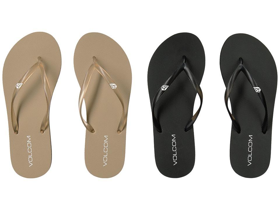 Volcom - Rocking 2-Pair Variety Pack (Natural/Black/White) Women's Sandals
