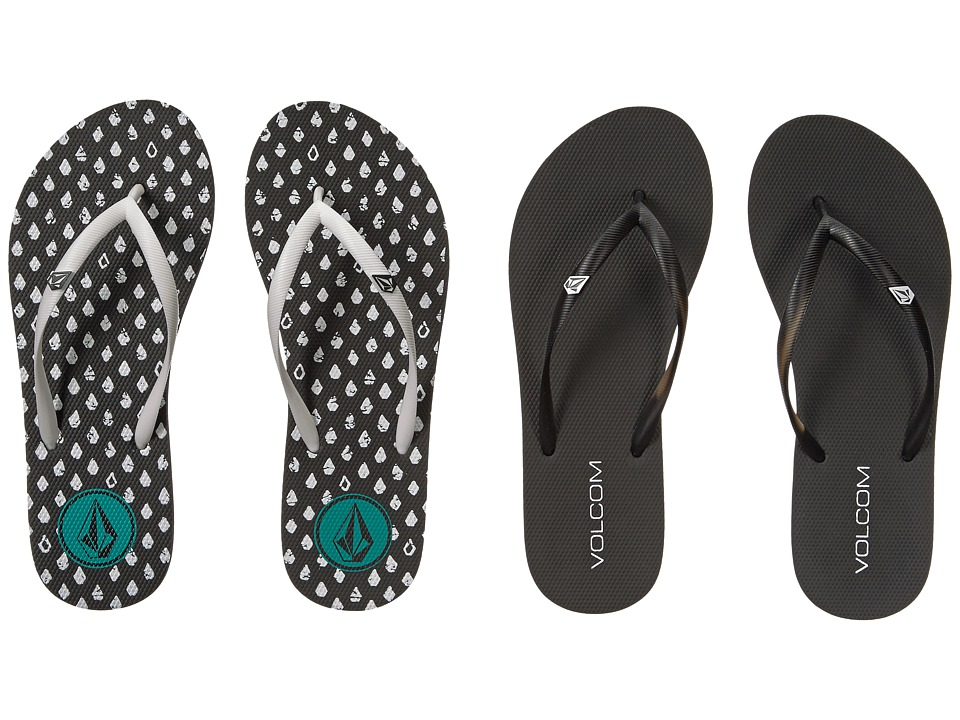 Volcom - Rocking 2-Pair Variety Pack (Black Combo/Black/White) Women's Sandals