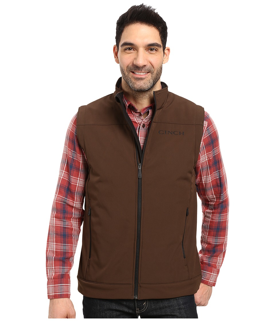 Cinch - Solid Bonded Vest (Brown) Men's Vest