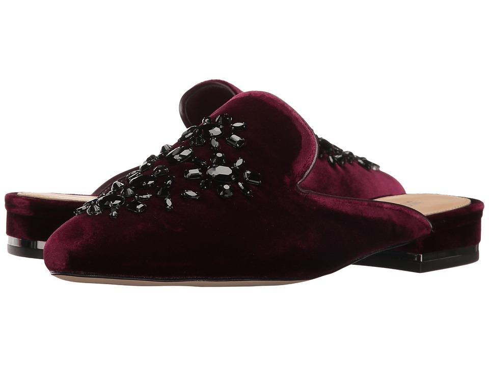 MICHAEL Michael Kors - Edie Slide (Plum Velvet/Nappa) Women's Slide Shoes