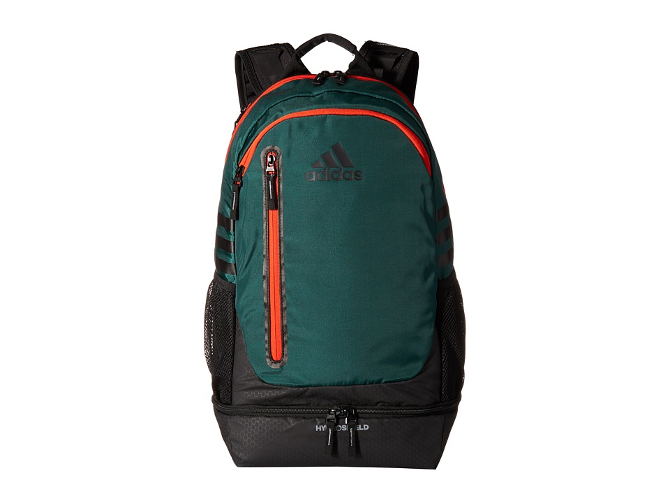 adidas - Pivot Team Backpack (Dark Green/Bold Orange) Backpack Bags