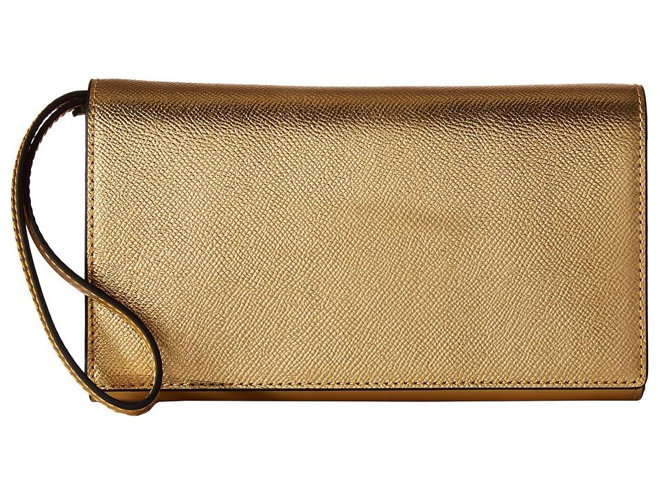 KENDALL + KYLIE - Bailey Accordion Wallet (Gold) Wallet Handbags