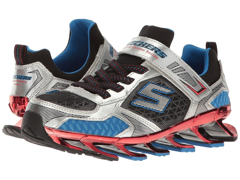 SKECHERS KIDS - Mega Blade 2.0 95579L (Little Kid/Big Kid) (Silver/Red/Royal) Boy's Shoes