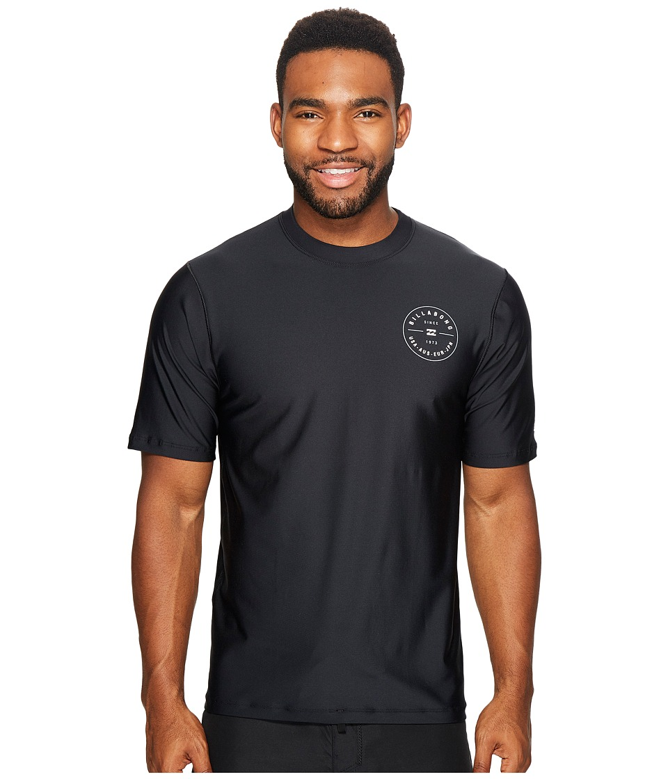 Billabong - Rotor Loose Fit Short Sleeve (Black) Men's Swimwear