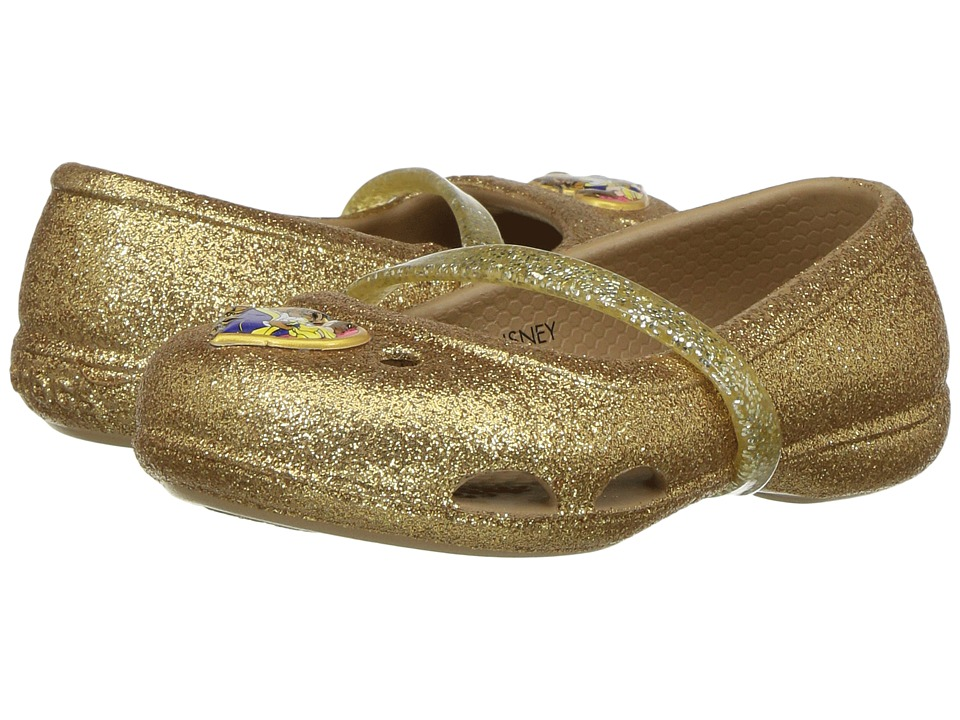 Crocs Kids - Lina Beauty and The Beast (Toddler/Little Kid) (Gold) Girl's Shoes
