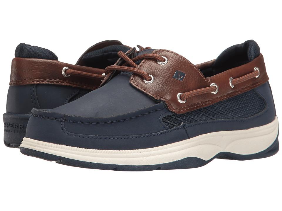 Sperry Kids - Lanyard (Little Kid/Big Kid) (Navy/Brown) Boy's Shoes