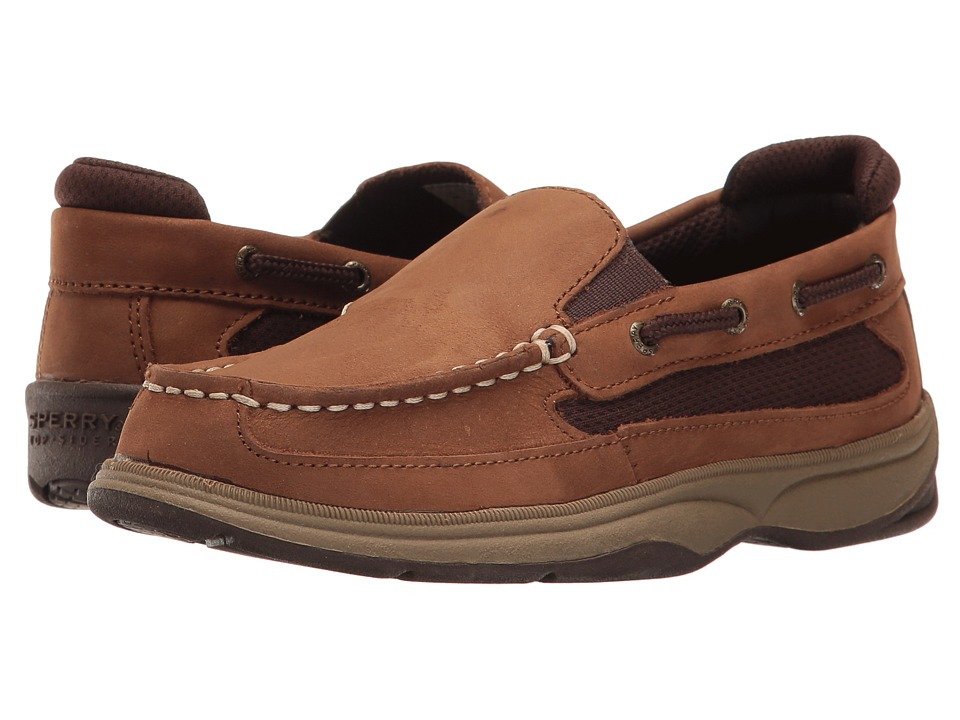 Sperry Kids - SP-Lanyard Slip-On (Little Kid/Big Kid) (Cigar Brown) Boy's Shoes