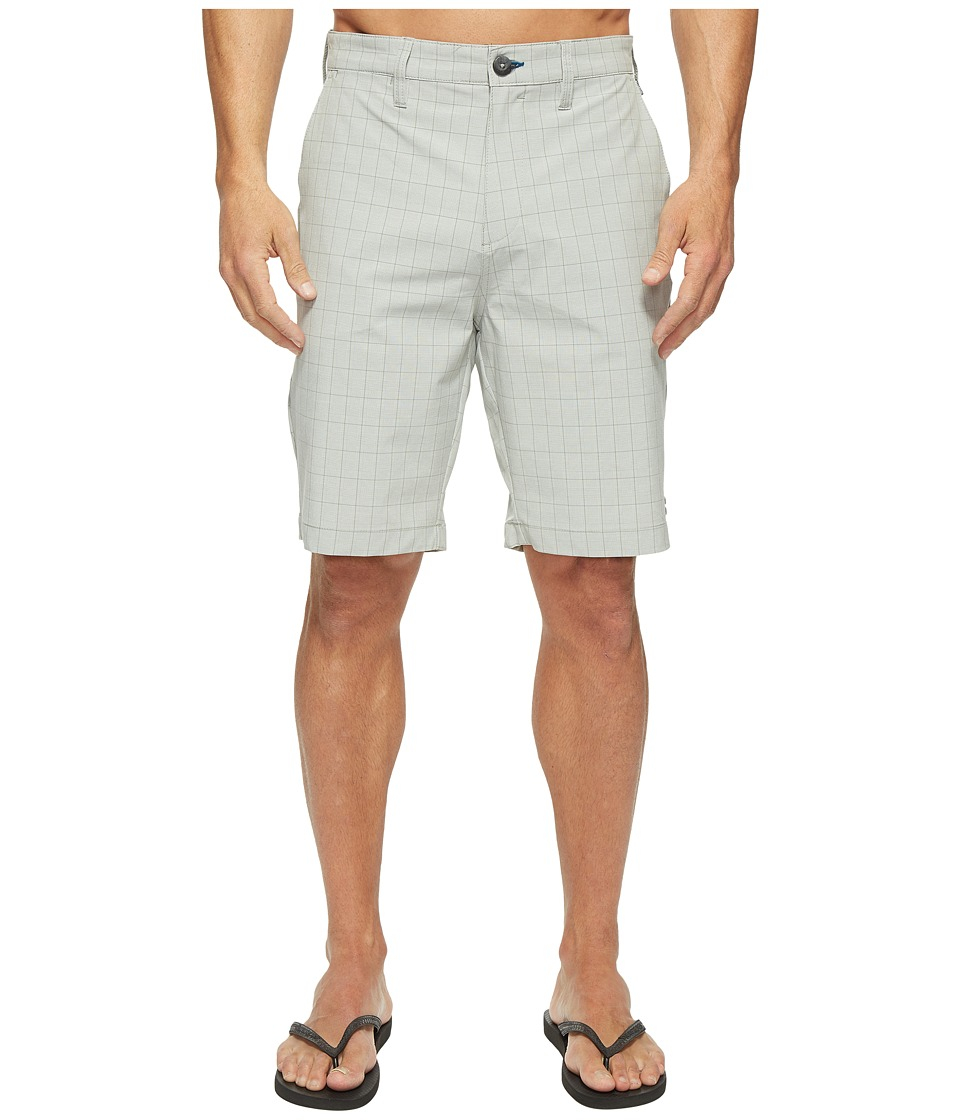 Billabong Crossfire X Plaid Walkshorts (Light Grey) Men
