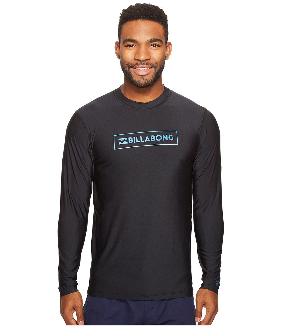 Billabong - All Day Unity Loose Fit Long Sleeve (Black) Men's Swimwear