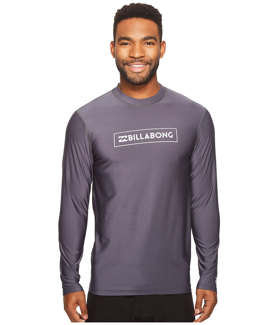 Billabong - All Day Unity Loose Fit Long Sleeve (Charcoal) Men's Swimwear