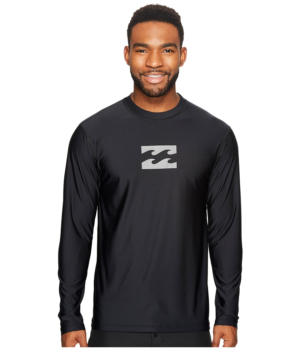 Billabong - All Day Wave Loose Fit Long Sleeve (Black) Men's Swimwear