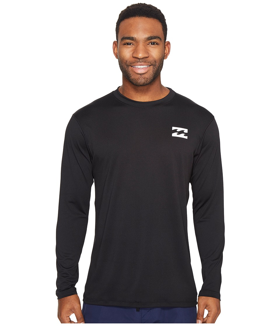 Billabong - All Day Mesh Loose Fit Long Sleeve (Black) Men's Swimwear