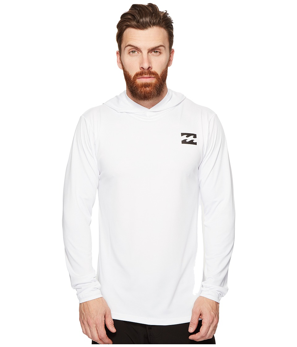 Billabong - All Day Mesh Long Sleeve Hooded (White) Men's Swimwear