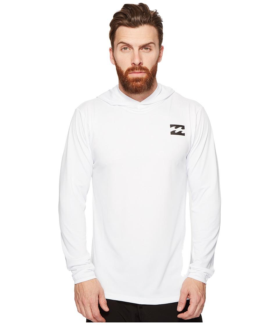 Billabong - All Day Mesh Long Sleeve Hooded (White) Men's Swimwear
